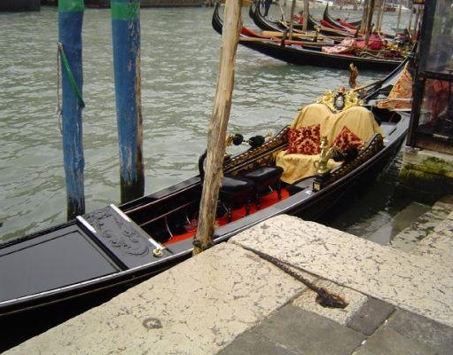 The gondola boats in Venice., Venice Italy