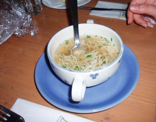 Cuisine in Vienna, soup! Vienna