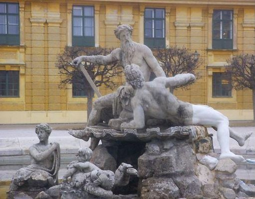 Fountain in Vienna, Austria, Vienna Austria