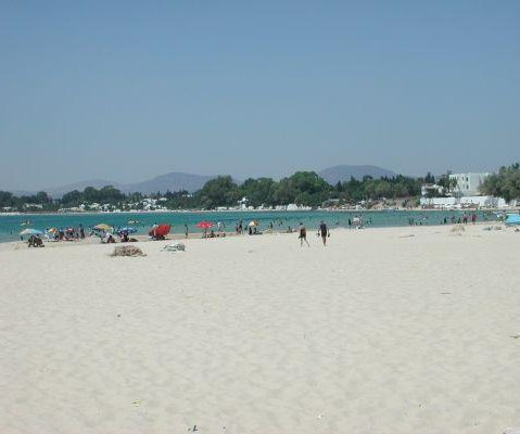 The beach in Tunis., Tunisia