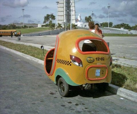 The Cocotaxi in Cuba., Cuba