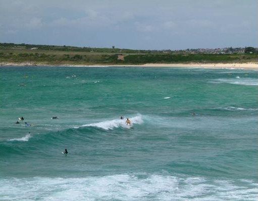 Surfers at Bondi Beach, Sydney., Australia