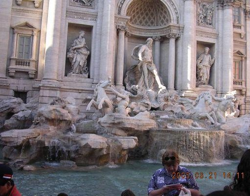 Photos of the Trevi Fountain in Rome., Italy