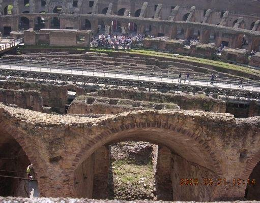 Photos inside the Colosseum, Rome., Rome Italy