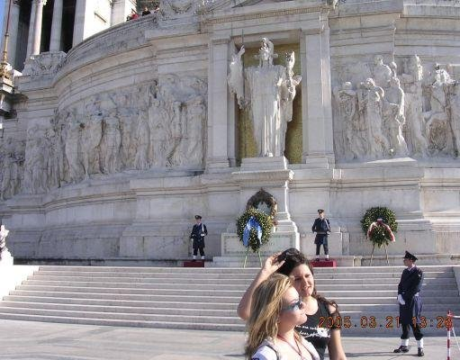 In front of Piazza Venezia in Rome., Italy