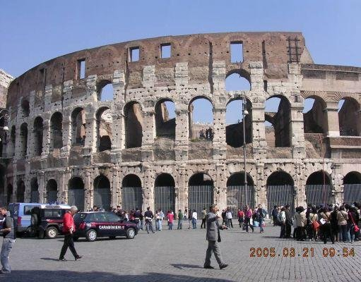 Photos of the Colosseum in Rome., Italy