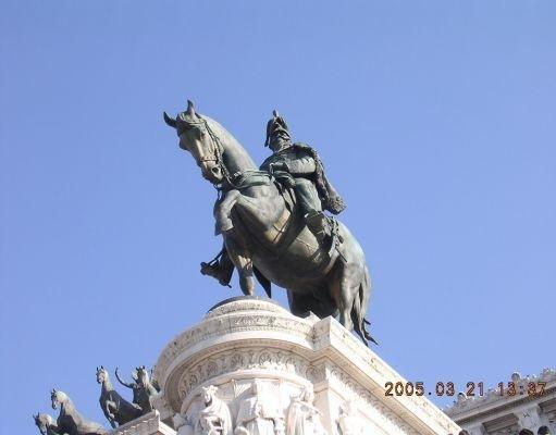 Rome Italy Marco Aurelio statue of Piazza Venezia.
