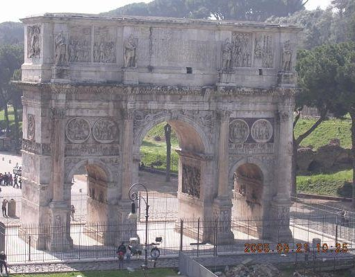 The Arch of Contantine in Rome., Italy