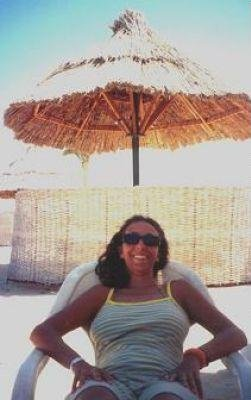 On the beach at the resort in Marsa Alam., Egypt