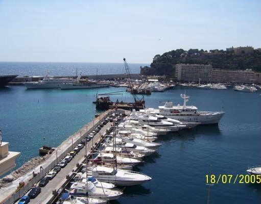 The harbour of Montecarlo., Monaco
