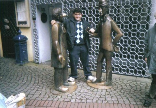 Statue of Tunnes and Schal in Cologne., Germany