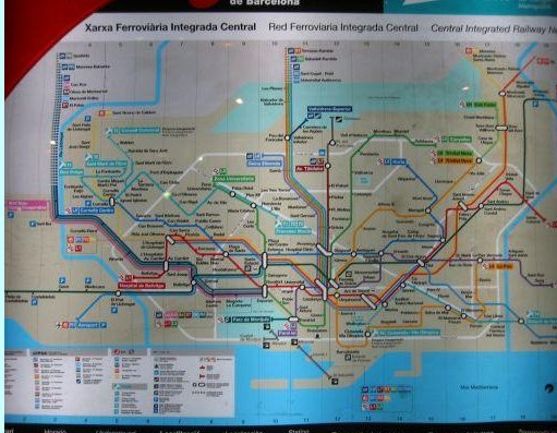 Photo of the Metro lines in Barcelona., Barcelona Spain