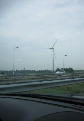 Modern Dutch wind mills!, Amsterdam Netherlands