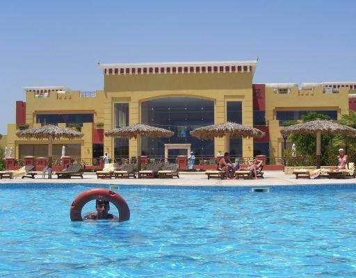 The swimming pool at the Tulip resort., Egypt