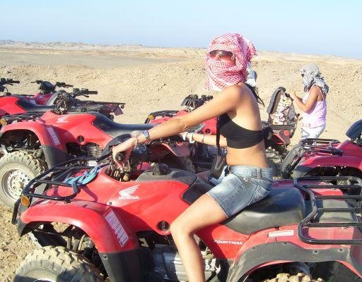 Quad Tour in the desert of Marsa Alam., Egypt