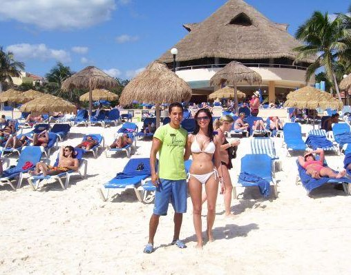 The beach at the resort in Playcar, Messico., Playa del Carmen Mexico