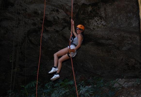 Ziplining in Mexico, near Coba., Mexico