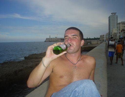 Having a drink on Malecon de la Habana, Cuba., Cuba