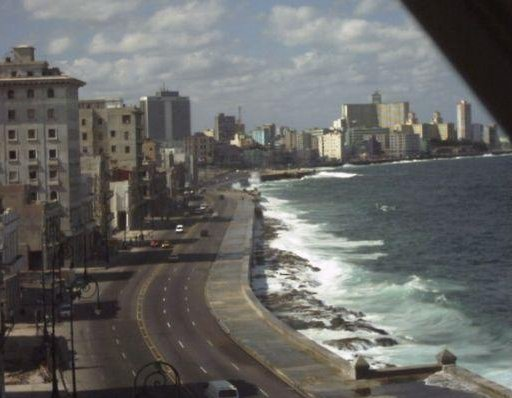 View of Malecon de la Habana, in Cuba., Cuba