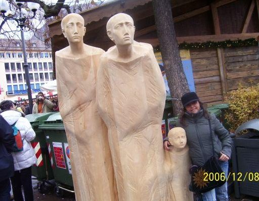 Photo at the Christmas market. Trento