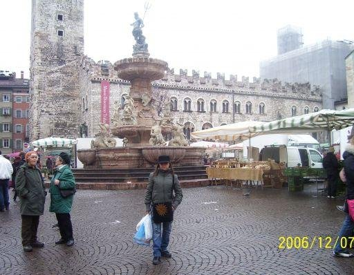 The fountain of Piazza Duomo in Trento., Italy