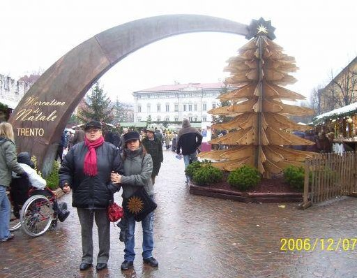 Christmas market in Trento., Italy