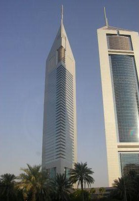 The twin towers of Dubai, one a hotel, the other one office space., United Arab Emirates