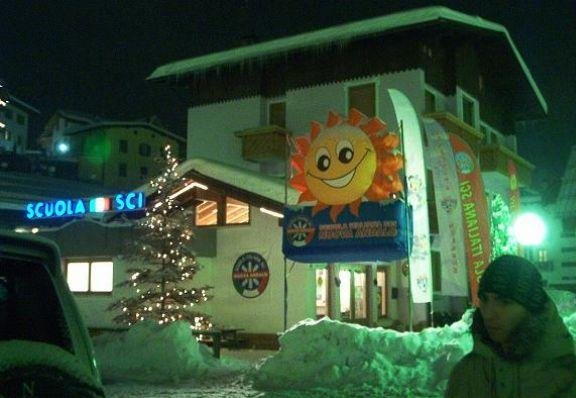 The school in Andalo where you can take ski lessons., Italy