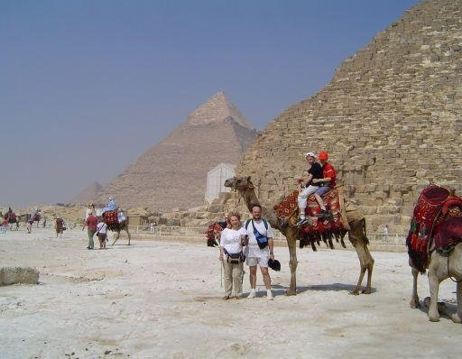 Camel ride to the pyramids, Cairo., Egypt