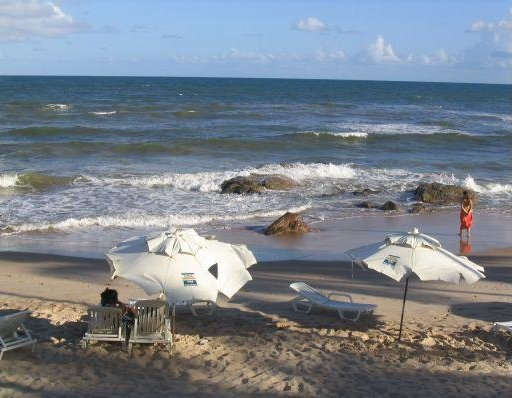 Pictures of a beach outside Salvador de Bahia., Brazil