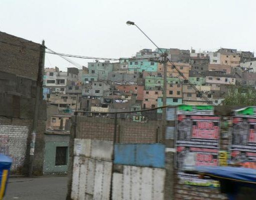 Photo of the Peruvian favelas in Lima., Peru