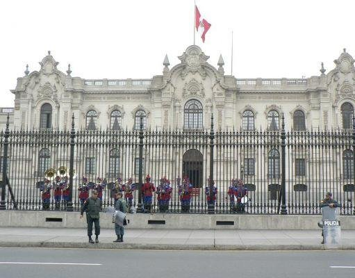Pictures of the Government Palace, Lima., Peru