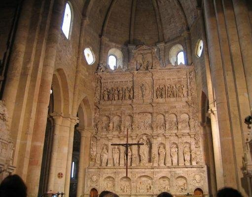 Photos inside the Poblet Monastery., Spain