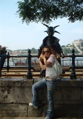 Statue on the Danube River., Budapest Hungary
