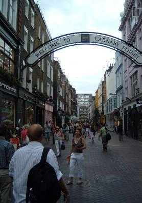 Carnaby Street in London., United Kingdom