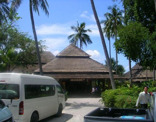 The airport of Ko Samui, Thailand. Ko Phangan