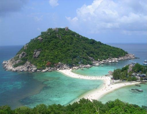 Panormic photo of Ko Tao, Thailand., Thailand