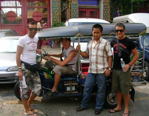 Tong, our personal tukt tuk driver., Thailand