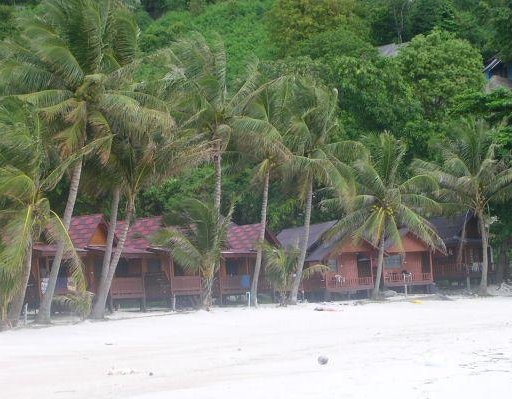 Beach bungalows in Ko Phangan, Thaland., Thailand