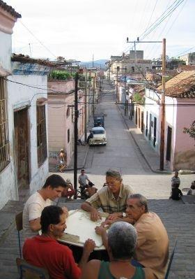 Panoramic streetview of Santiago., Cuba