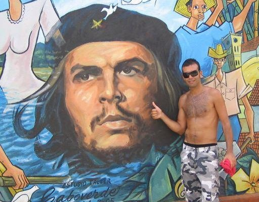 Graffitti of Ernesto Che Guevara, the legend of Cuba., Havana Cuba