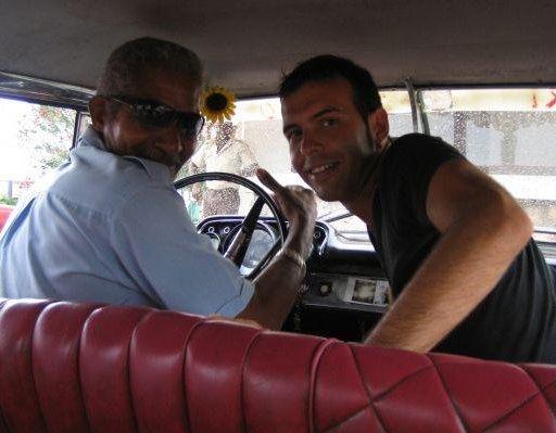 Havana Cuba Our Cuban taxi driver.