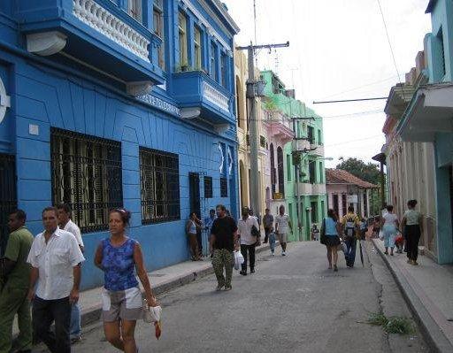 The streets of Santiago, Cuba., Cuba
