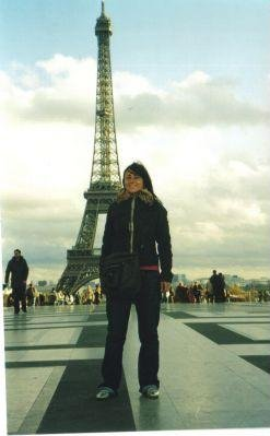 In front of the Eiffel Tower in Paris., France