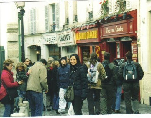 French quarter of Montmartre in Paris., Paris France