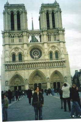 Photo of the Notre Dame in Paris., Paris France