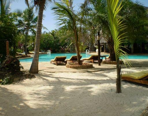 Resort with pool area in Mombasa, Kenya., Kenya