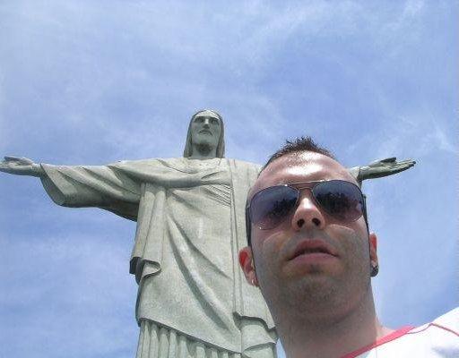 Salvador Brazil The Corcovado, Christ the Redeemer statue in Rio de Janeiro.
