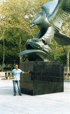 East Coast Memorial, Eagle Statue in Battery Park, Lower Manhattan. , New York United States