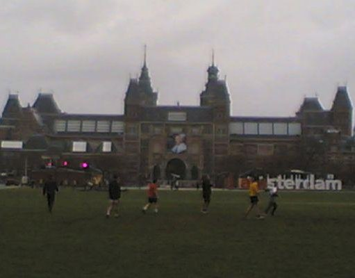 Amsterdam Netherlands Local soccer team playing in Amsterdam.